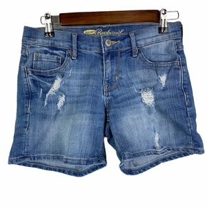 Old Navy Blue Denim Distressed Boyfriend Shorts